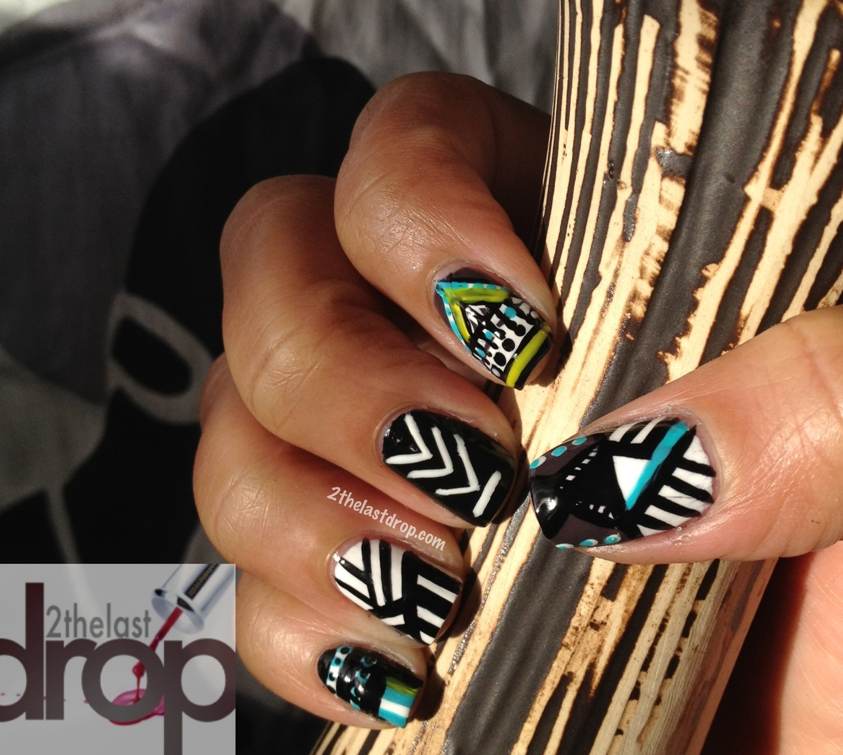 Tribal Nails Day 16 Of 31 Day Nail Challenge 2thelastdrop