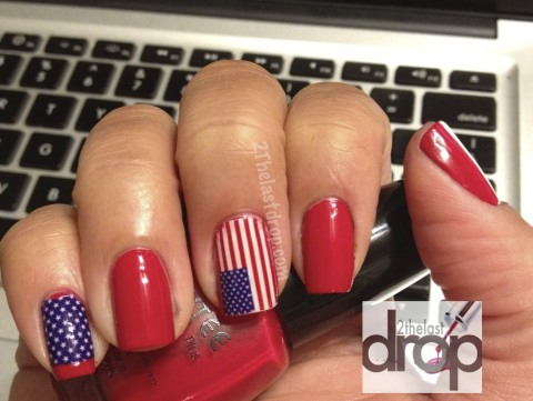 Patriotic 4th of july nail art iheartcelebtrends for 4th of july nail art decoration flag